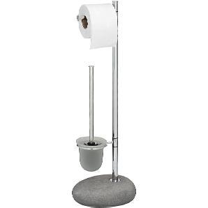 WC-Garnitur Pepple - Steingrau, Wenko