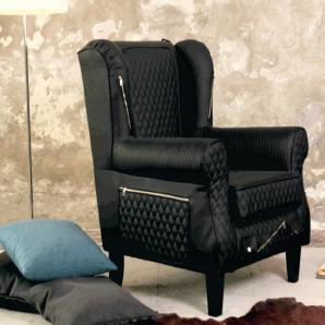 INOSIGN Sessel »Edge« schwarz, FSC®-zertifiziert