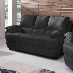 Home affaire  3-Sitzer in 3 Bezugsqualitäten schwarz, »Nebolo«, FSC®-zertifiziert