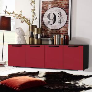 INOSIGN Sideboard rot, pflegeleichte Oberfläche