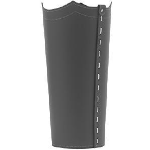 UMBRELLA: Schirmständer aus regenerated leder farbe Anthrazit, Regenschirmständer mit Wasserauffangschale, Made in Italy by Limac Design®.