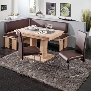 Eckbankgruppe Buin (4-teilig) - Braun, loftscape