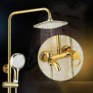 JIAHENGY Handbrause Duscharmatur Dusch Brause,Dusche mit Warmen und Kalten Körper Kupfer Wasserhahn Dusche Brause Armatur Modern Fashion Einfach und Großzügig