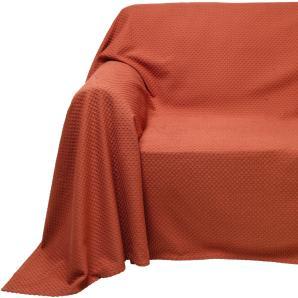 Sofaüberwurf, orange, Gr. ca. 250/270 cm, PEREIRA DA CUNHA, 100% Baumwolle