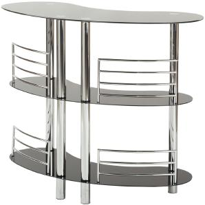 Bar Metall-Glas mit Abstellflächen  Diego ¦ schwarz ¦ Maße (cm): B: 120 H: 106 T: 57 Tische  Bartische » Höffner