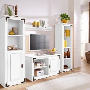 Home affaire Wohnwand weiß, »New Cheap«, pflegeleichte Oberfläche, FSC®-zertifiziert