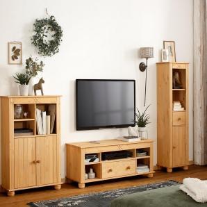 Home affaire Wohnwand 3tlg. beige, »Miranda«, FSC®-zertifiziert