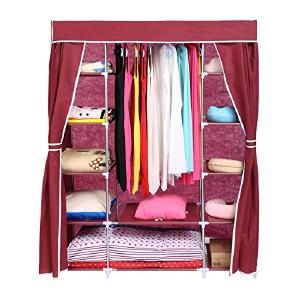 Kleiderschrank Stoff Stabil Ordnungssystem Kinderzimmer Kleiderregal Kleiderständer Schlafzimmerschrank 133 X 44 X 170 cm