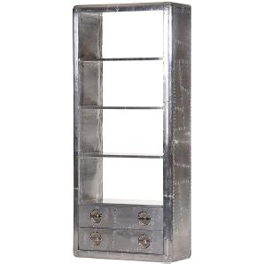 Bücherregal Gatwick I - Aluminium - Silber, ars manufacti