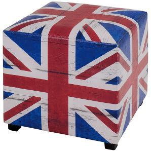 Polsterhocker Great Britain - Blau/Rot/Weiß, Home Design