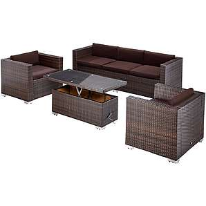 gartenm bel in braun online vergleichen m bel 24. Black Bedroom Furniture Sets. Home Design Ideas