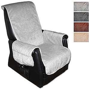 Sesselschoner Polsterschoner Sesselauflage Überwurf gesteppt, Größe ca.: 160 x 150 - Farbauswahl: hellgrau - silbergrau