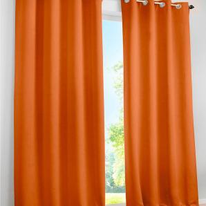 Verdunkelungsvorhang Uni in orange