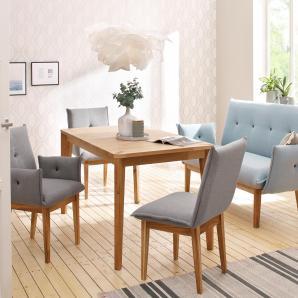 Home affaire Stuhl im 2er, grau, Massivholz, 6er Set »Libra«, FSC®-zertifiziert