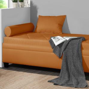 Relaxliege mit Bettkasten 90x200 cm orange - Kamina