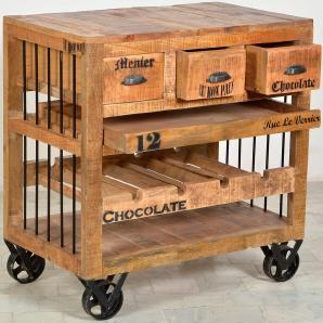 SIT Küchenwagen »Rustic« beige, FSC®-zertifiziert, SIT-Möbel