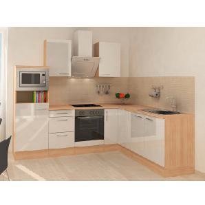 Respekta Premium Winkelküche RP260AWCMIS 260 cm Weiß-Akazie Nachbildung