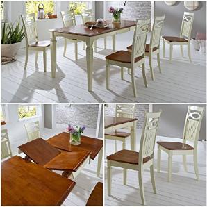 Essgruppe Essecke Massiv Holz Rustico Used Look Vintage Tisch Set Shabby Style