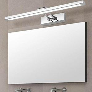 Moderne Mode Einfacher Edelstahl Badezimmer LED-Frontleuchten Lichter Badezimmer Wandleuchte Spiegelschrank Lampe Schlafzimmer Schminkspiegel 550mm [Energieklasse A +++]