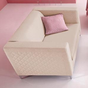 INOSIGN 2-Sitzer mit Steppung beige, FSC®-zertifiziert