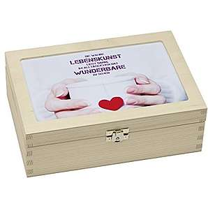 Contento 866383 Teebox Holz weiß