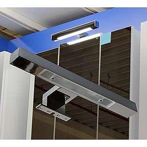 Halogen Aufbauleuchte / Chrom / Schrankleuchte / 2230 / Spiegelschrankbeleuchtung / Spiegelleuchte / Badleuchte