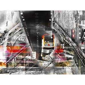 Artland Poster, Leinwandbild »Moderne Kunst Fahrzeuge Züge Digitale Kunst«