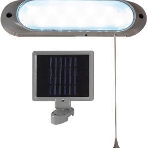 EEK A+, LED Außenleuchte Solarstation 10-flammig - Grau Kunststoff, Näve