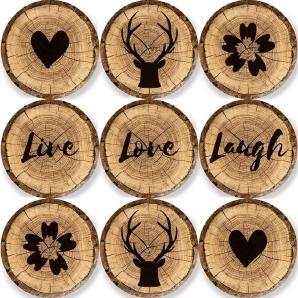 EUROGRAPHICS Magnete-Set »Decorative Wood Slices«, 9 Stück