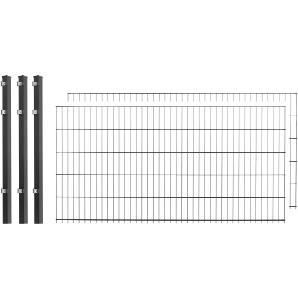 Doppelstabmattenzaun , 2 Stk., LxH: 4x1 m, anthrazit
