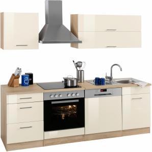 Küchenzeile »Graz« gelb, pflegeleichte Oberfläche, Held Möbel