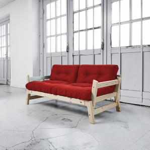 Karup Schlafsofa »Step«, rot, inkl. Futonmatratze