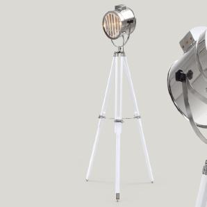 Alfred Tripod-Stehlampe, Weiß