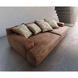 Ultsch Big-Sofa Cabana 300x140 cm Braun Vintage inkl. 6 Kissen by Ultsch, Big Sofas, Ultsch Polstermöbel