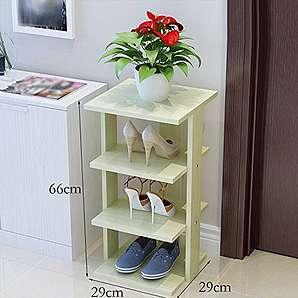 Garderobenschränke Einfache Schuh Schuh-Lagergestell mehrschichtigen dicken grünen Schuh minimalistisch moderne Wirtschaft Möbelschrank-WXP ( Farbe : #2 )
