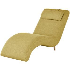 finya skandinavische Relaxliege | gelb | 63 cm | 85 cm | 162 cm | Möbel Kraft