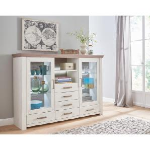 Set One By Musterring Highboard »york«, beige