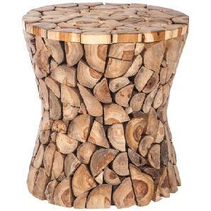 Holzhocker  aus Teak  ausgefallen