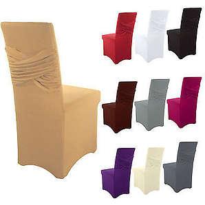Stuhlhusse Stuhlbezug Universal Stretch Stuhlüberzug Abdeckung Hussen Schleife