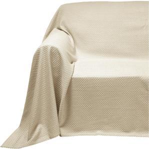Sesselüberwurf, weiß, Gr. ca. 160/190 cm, PEREIRA DA CUNHA, 100% Baumwolle