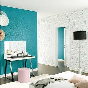 vliestapeten in blau online vergleichen m bel 24. Black Bedroom Furniture Sets. Home Design Ideas