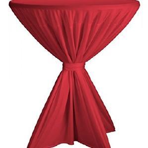 Dena Stehtischhusse Fiesta Poly-Jersey für 80 bis 90 cm Durchmesser überwurf, Farbe:rot, Maße:Ø 80-90 cm