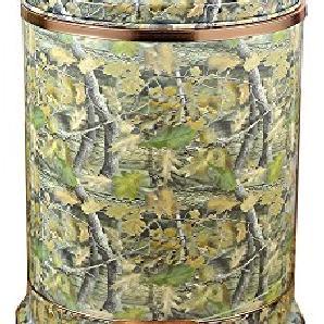 Die Deluxe Continental Fuß PapierkorbDas Wohnzimmer Küche WC Edelstahl Papierkorb mit hoher Kapazität,Maple Leaf10.L