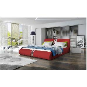JUSTyou CALLISTO Polsterbett Doppelbett Ehebett Gästebett 155x239x83 Rot