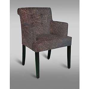 Stuhl Leblon 117 mit Stoffbezug, Farbe: Rot / Grau - Abmessungen: 90 x 60 x 53 cm (H x B x T)