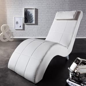 Relaxliege Lennox 60x160 cm Creme Weiss abgesteppt, Liegen