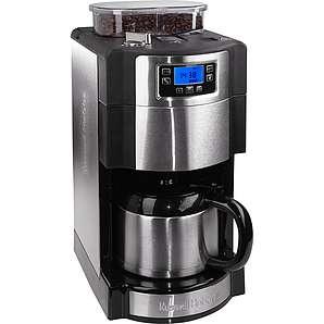 RUSSELL HOBBS Kaffeemaschine mit Mahlwerk Buckingham Grind&Brew 21430-56 silber