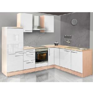 Respekta Premium Winkelküche RP260AWCGKE 260 cm Weiß-Akazie Nachbildung
