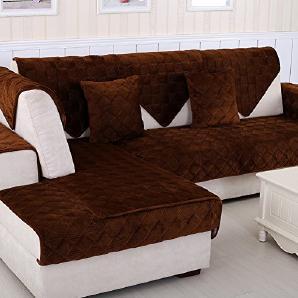 Flanell Sofa decken Volltonfarbe Anti-schleudern Verdicken sie Sofa-handtuch abdeckungen All-inclusive- Einfache Sofaüberwurf Möbel protector,All-inclusive--volle deckung-brown 70x180cm(28x71inch)