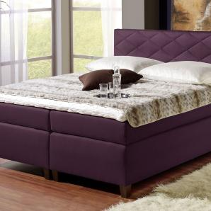 King Size Bett Nizza - 100x200 cm - violett - Härtegrad H2